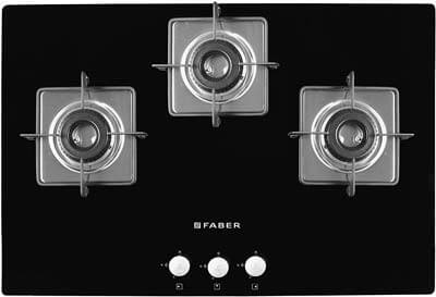 faber gas hob with 3 burners